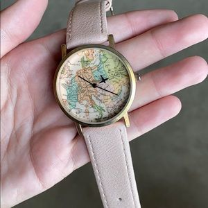 Vintage watch with map face